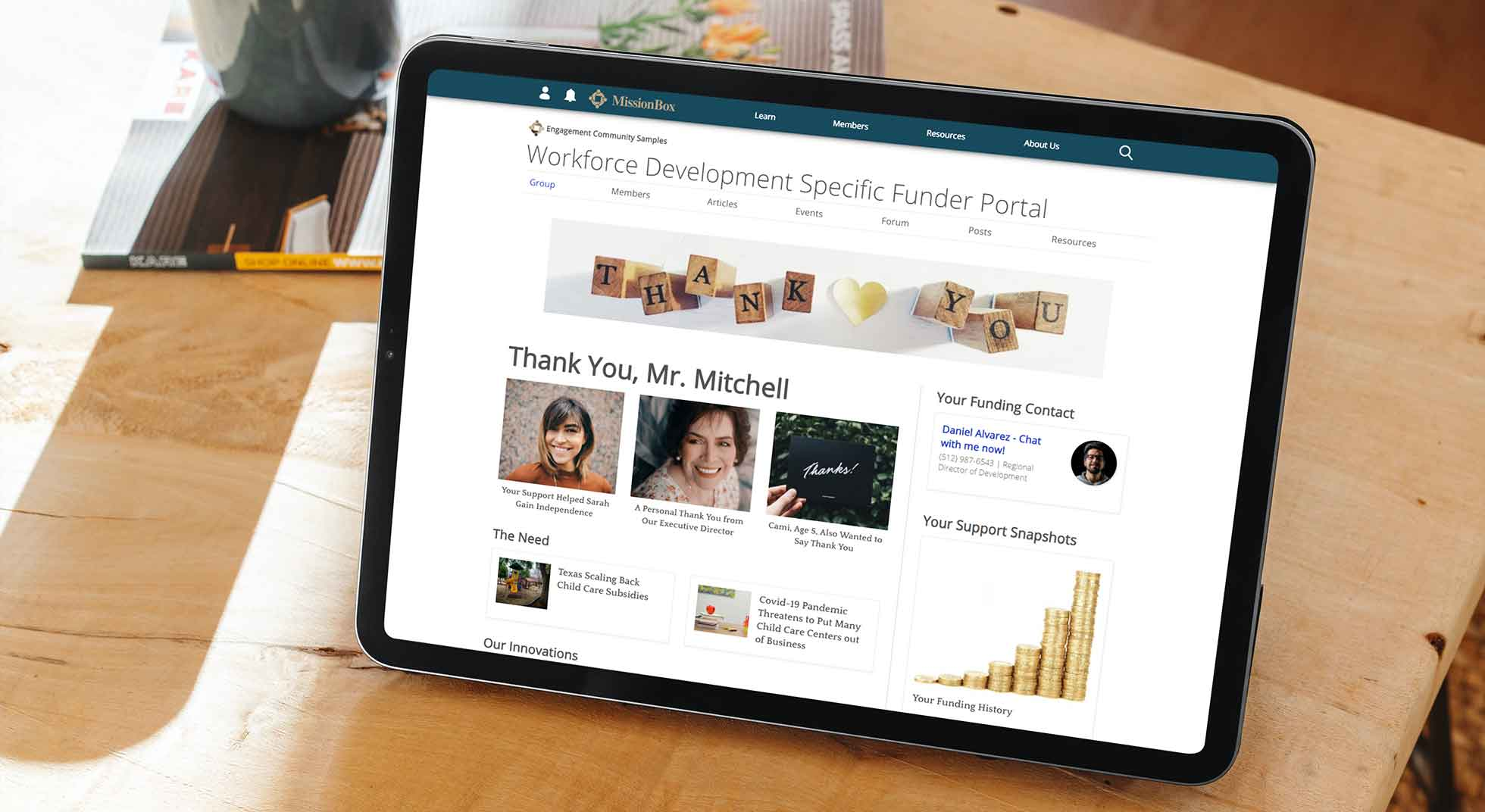 Specific Funder Portal