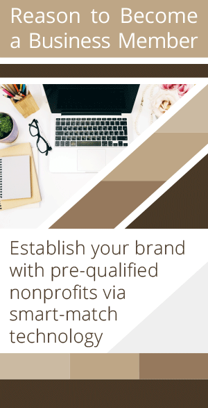 Establish your brand with pre-qualified nonprofits via smart-match technology