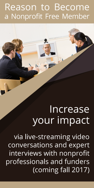 Increase your impact via live-streaming conversations and expert interviews with nonprofit professionals and funders