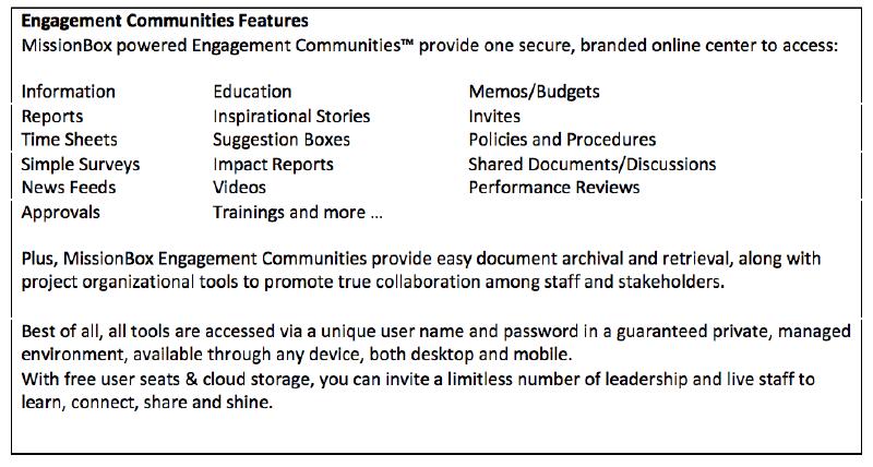 nonprofit engagement communities features
