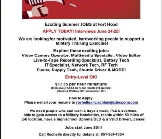 Exciting Summer Jobs at Fort Hood: Hiring Now! - Featured Photo