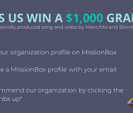 July 2018 MissionBox Grant: $1000 Grant Plus Your June Haiku, Made Into a Professionally Produced Song and Video's MissionBox Cover Photo