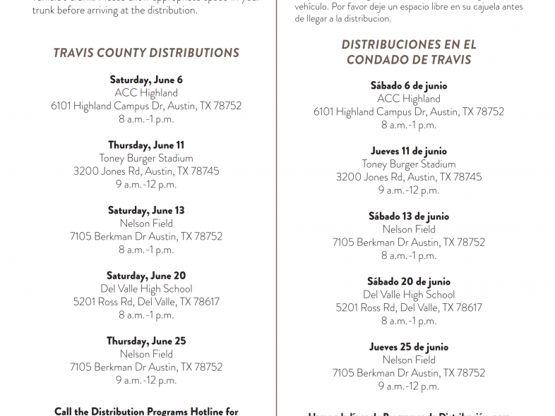 JUNE EMERGENCY RELIEF FOOD DISTRIBUTIONS | JUNIO D